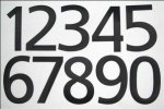 SN-1to0 - Sail-Numbers - 105 mm x 70 mm - Self Adhesive - each